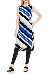 Vince Camuto Women's Nautical Bands Side Slit Tunic