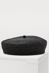 Sensi Studio Straw Beret Black