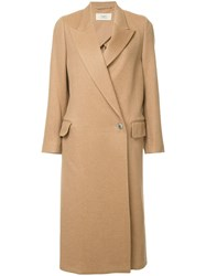 Ports 1961 Single Breasted Coat Brown