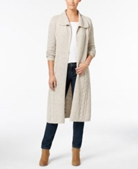 Styleandco. Style Co. Cable Knit Duster Cardigan Only At Macy's Hammock Heather