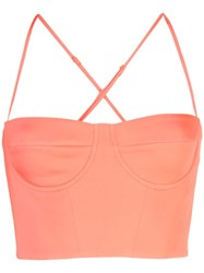 Michelle Mason Bustier Top Red