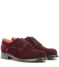 Church's Mytheresa.Com Exclusive Louise Velvet Brogues Red