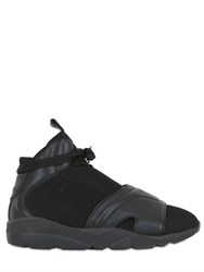 Casbia Blake Leather And Mesh High Top Sneakers
