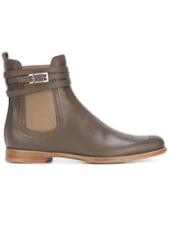 Unutzer Buckled Detailing Chelsea Boot Grey