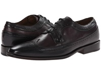 Messico Luciano Black Burgundy Leather Men's Dress Flat Shoes