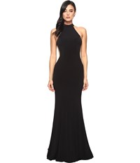 Faviana Jersey Halter W Illusion Cut Out 7943 Black Women's Dress