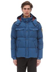 Ciesse Piumini Alaska Hooded Cotton Down Jacket Denim
