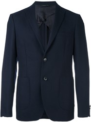 Tonello Two Button Blazer Blue
