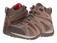 Columbia Grand Canyon Mid Waterproof Mud Poppy Red Women's Shoes Brown