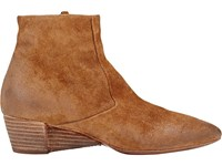 Marsell Women's Suede Wedge Heel Ankle Boots Tan