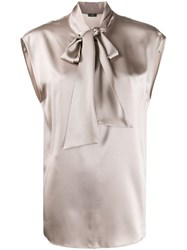 Joseph Nancy Neck Tie Blouse 60