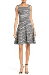 Milly Women's Geo Jacquard Fit And Flare Dress
