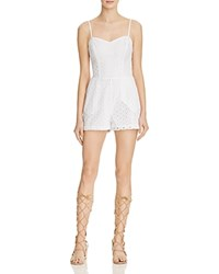 Guess Elise Eyelet Cutout Back Romper True White