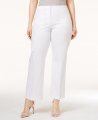 Alfani Plus Size Cropped Control Pants Only At Macy's Bright White