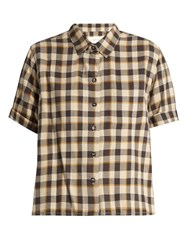 The Great Bias Short Sleeved Tartan Cotton Shirt Multi