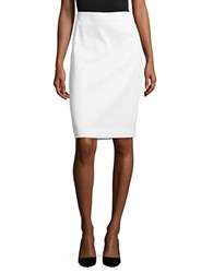Lord And Taylor Cotton Blend Pencil Skirt White