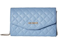 Love Moschino Quilted Evening Bag Light Blue Handbags