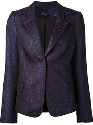 Sophie Theallet Metallic Blazer Blue