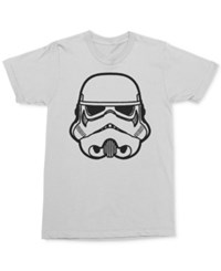 Mighty Fine Men's Star Wars Graphic Print T Shirt White