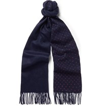 J.Crew Double Sided Cashmere Scarf Navy
