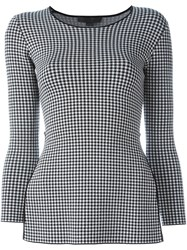 Alexander Wang Houndstooth Peplum Top Black