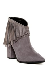 Kenneth Cole Reaction Pull Ashore Fringe Ankle Boot Gray