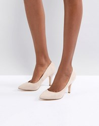 London Rebel Vintage Point High Heels Beige Micro