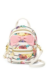Betsey Johnson Backpack Crossbody White