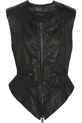 Haider Ackermann Textured Leather Vest Black