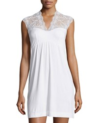 Cosabella Peacock Short Slip Dress White