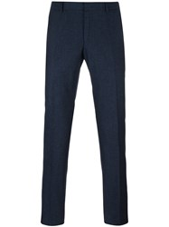 Z Zegna Woven Slim Fit Trousers Blue