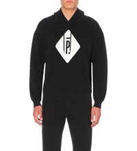 Pigalle Branded Cotton Jersey Hoody Black