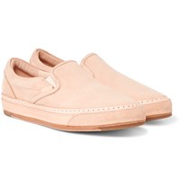 Hender Scheme Mip 17 Nubuck Slip On Sneakers Tan