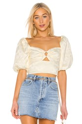 C Meo Collective Elate Top In Butter Yellow