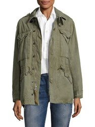 Polo Ralph Lauren Cotton Canvas Military Jacket Mountain Green