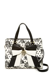 Betsey Johnson Bag In Bag Satchel Black