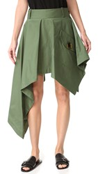 Monse Asymmetrical Skirt Olive