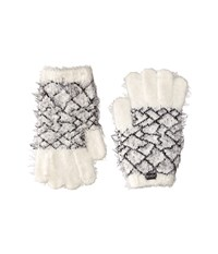 Rvca Fuzz Off Gloves Vintage White Extreme Cold Weather Gloves Beige