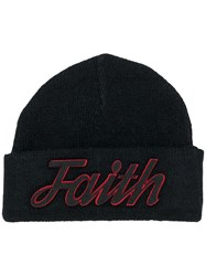 Faith Connexion Logo Patch Beanie Black