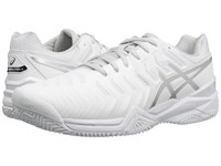 Asics Gel Resolution 7 Clay Court White Silver Men's Tennis Shoes