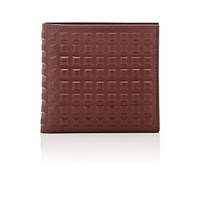 Balenciaga Men's Grid Embossed Wallet Burgundy