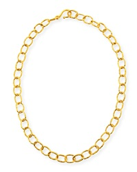 Hammered Oval Link Chain Necklace 18'L Dina Mackney