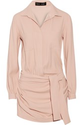Jay Ahr Stretch Crepe Playsuit Pink