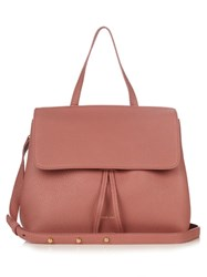 Mansur Gavriel Mini Lady Top Handle Leather Bag Pink