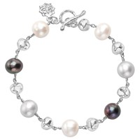 Dower And Hall Sterling Silver Pearlicious Pearl Nugget Bracelet Silver Multi