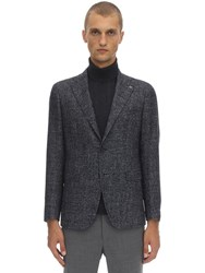 Tagliatore Single Breasted Wool Jacket Blue