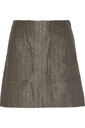 Jill Stuart Robin Metallic Striped Jacquard Mini Skirt