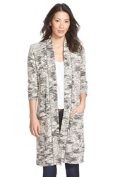 Women's Caslon Long Open Front Cardigan