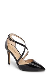 Athena Alexander Women's Monett Strappy Pump Black Patent