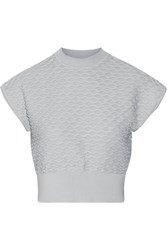 3.1 Phillip Lim Textured Knit Cotton And Cashmere Blend Sweater Blue